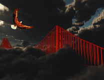 Golden Gate Bridge in Heavy Fog Royalty Free Stock Photography