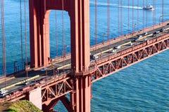Golden gate bridge-het Noordentoren - San Francisco stock afbeeldingen