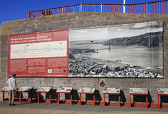 Golden Gate Bridge History Display Royalty Free Stock Photography