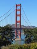 Golden gate bridge i San Francisco Arkivfoto
