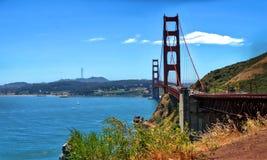 Golden gate bridge i San Francisco, Kalifornien USA arkivfoto