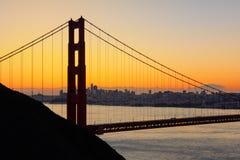 Golden gate bridge i San Francisco, USA Arkivfoto