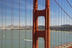Golden gate bridge i San Fransisco, widok od Morskich Headlands, San Fransisco, Kalifornia, usa Obraz Stock