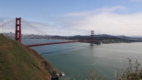 Golden gate bridge i SF, Kalifornien, USA arkivbild