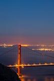 Golden Gate Bridge i zatoki Bridżowa fotografia Obrazy Royalty Free