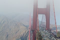 Golden gate bridge icônico em San Francisco imagens de stock