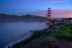 Golden gate bridge iconico Immagini Stock Libere da Diritti
