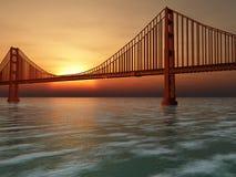 Golden Gate Bridge Illustration Stock Images