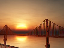 Golden gate bridge illustration Arkivfoto