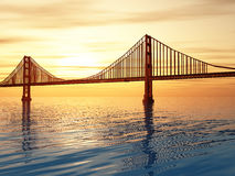 Golden gate bridge illustration Royaltyfri Foto