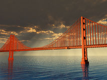Golden Gate Bridge Illustration Stock Photo