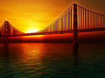 Golden Gate Bridge Illustration Stock Photo