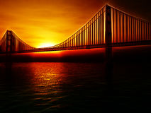 Golden Gate Bridge ilustracja Zdjęcia Royalty Free