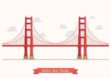 Golden Gate Bridge ilustracja Obrazy Stock