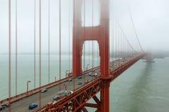 Golden gate bridge im Nebel, San Francisco Stockbild