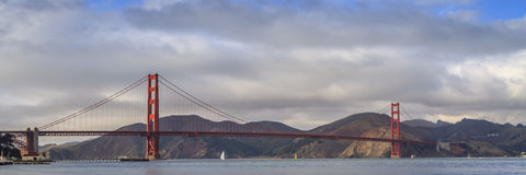 The Golden Gate Bridge. Joining San Francisco and Marin County, reaches across the opening to San Francisco Bay Royalty Free Stock Photography