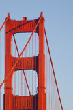 Golden gate bridge-Kabel und -turm Stockbild