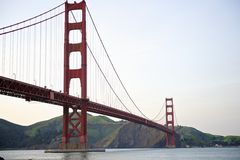 Golden Gate Bridge low angle perspective Royalty Free Stock Photography