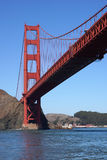 Golden Gate bridge. Low angle view of Golden Gate bridge in San Francisco, U.S.A Royalty Free Stock Photography