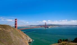 Golden gate bridge-Mening van noord tot zuid Stock Foto's