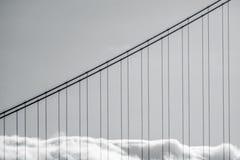 Golden Gate Bridge mgła Zdjęcia Royalty Free
