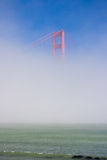 Golden Gate Bridge in the mist. View on Golden Gate bridge from San Francisco, California, USA royalty free stock images