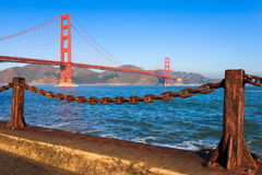 Golden Gate Bridge in the Morning. Golden Gate Bridge on a clear morning, seen from Fort Point Stock Photos
