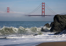 The Golden Gate Bridge in the Morning Fog Royalty Free Stock Photos