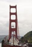 Golden Gate Bridge Morning Traffic stock photography