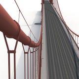 Golden Gate Bridge na bielu ilustracja 3 d Zdjęcie Stock