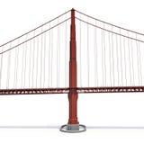 Golden Gate Bridge na bielu ilustracja 3 d Obraz Royalty Free