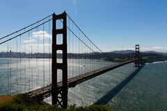 Golden Gate Bridge na słonecznym dniu, Kalifornia, usa Obraz Stock