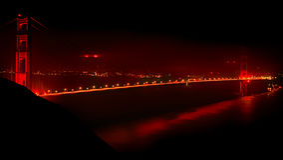 Golden gate bridge nachts Stockbild