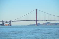 Golden Gate Bridge nad zatoką w San Fransisco, Kalifornia Zdjęcie Stock