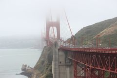 Golden Gate Bridge Near Mountain during Daytime Royalty Free Stock Photography