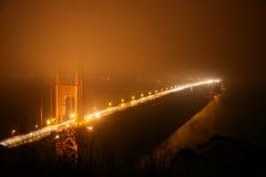 Golden Gate Bridge at Night Royalty Free Stock Photo