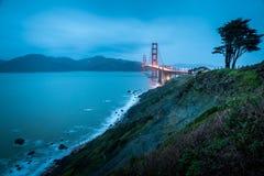 Golden Gate Bridge at night Stock Image