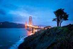 Golden Gate Bridge at night Royalty Free Stock Image