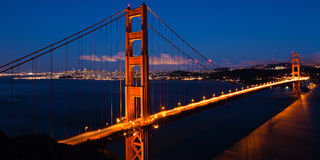 Golden Gate bridge by night in San Francis Stock Photography