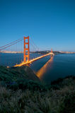 Golden Gate Bridge at night in San Francisco Royalty Free Stock Photo