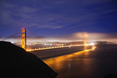 Golden Gate Bridge at night, San Francisco, California Royalty Free Stock Image