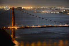 Golden Gate Bridge at night, San Francisco, USA Royalty Free Stock Photo