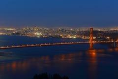 Golden Gate Bridge at night, San Francisco, USA Stock Images