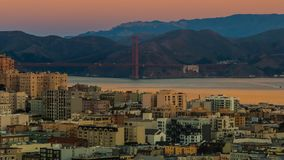Golden Gate Bridge from night to day. Time lapse of San Francisco bay area with Golden Gate Bridge from night to day stock video