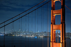 Golden Gate Bridge Nightshot Royalty Free Stock Images