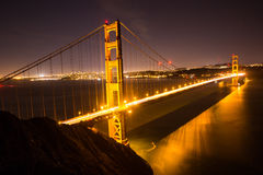 Golden gate bridge nightview 1 Royalty-vrije Stock Foto