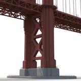 Golden gate bridge no branco ilustração 3D Fotografia de Stock