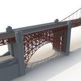 Golden gate bridge no branco ilustração 3D Fotos de Stock Royalty Free