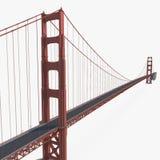 Golden gate bridge no branco ilustração 3D Imagem de Stock