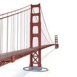 Golden gate bridge no branco ilustração 3D ilustração stock